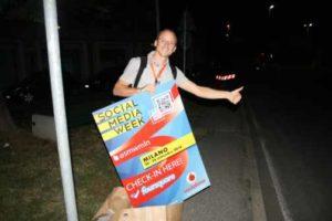 Luigi Centenaro dopo l'evento sul Personal Branding alla Social Media Week fotografato da Anna Torcoletti