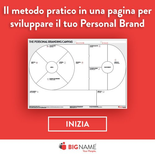 Scarica gratis il metodo pratico in una pagina per sviluppare la tua strategia di personal branding