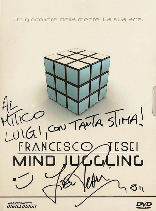 Il DVD Mind Juggling autografato di Francesco Tesei, il Mentalista