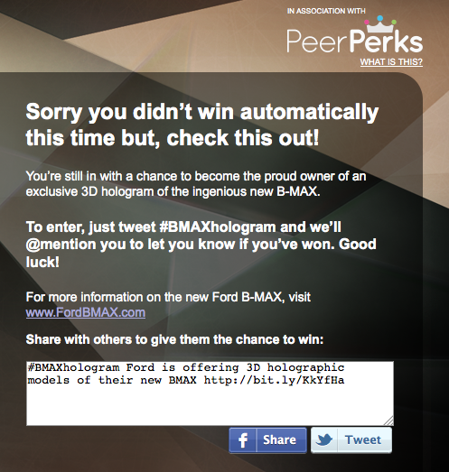 Non sei un influencer! PeerIndex e Ford B-Max