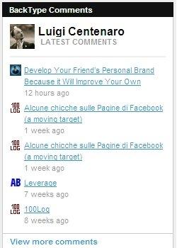 profilo di Luigi Centenaro su BackType