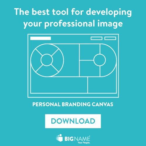 The Personal Branding Canvas on BigName Website